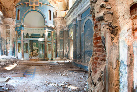 blasted: Interior shot of Abandoned Medieval Orthodox Church