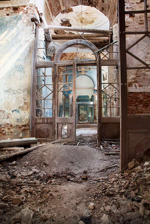 blasted: Vertical shot of Abandoned Medieval Orthodox Church
