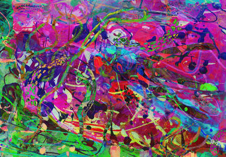 child's: childs drawing - full frame abstract painting