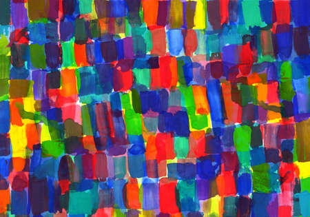 child's: Childs painting - palette with abstract spots  Stock Photo