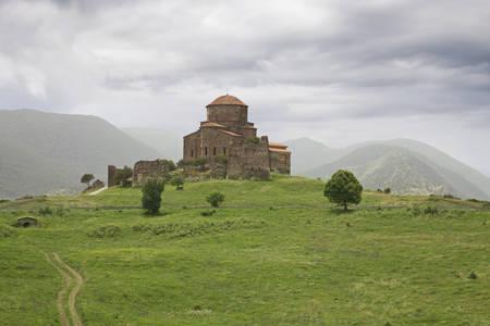 mountaintop: Jvari Monastery Monastery of the Cross stands on the rocky mountaintop near Mtskheta, eastern Georgia