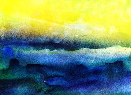 cuadros abstractos: Fondo de acuarela de fotograma completo la mano abstracta dibujado en la textura del papel del grunge