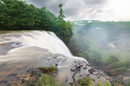 dalat: Majestic landscape of Elephant waterfall in summer at Lam Dong Province, Vietnam