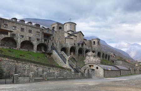 Alan Holy Dormition male monastery in the village Hidikus in North Ossetia. Alania, Russia