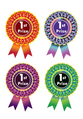 Award rosettes  Stock Vector - 13073765