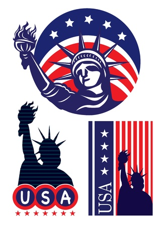 American symbol icon- Statue of Liberty  Vector