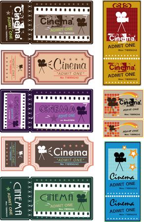 Kinokarten Vektorgrafik