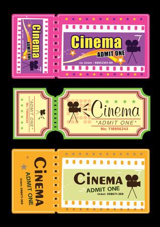 Cinema tickets Vector