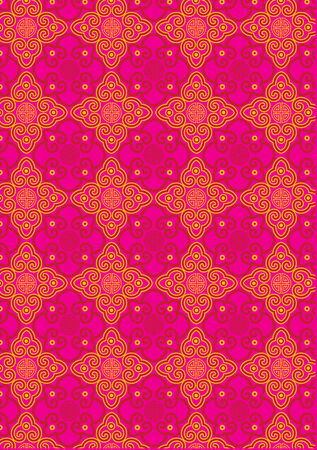 Classic Oriental Pattern Illustration