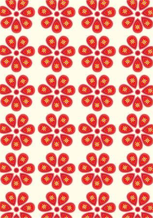 oriental flower: Classic Oriental Flower Pattern