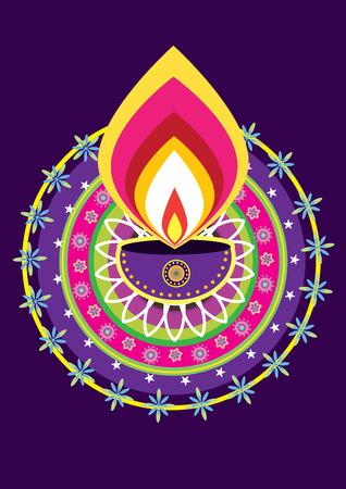 diwali candle light Vector