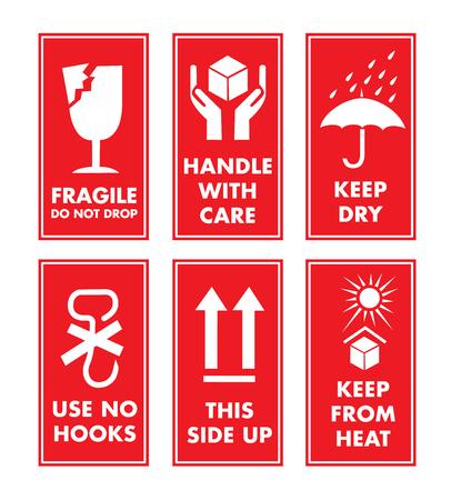 Fragile Sticker Set