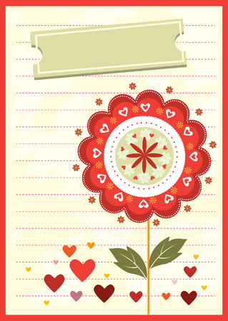 Greeting card  Mother s Day  Vector