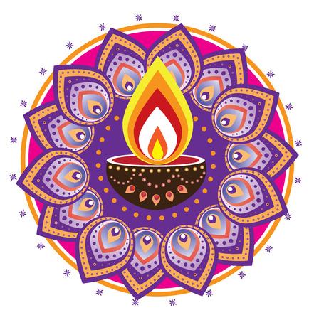 candil: luz de las velas Diwali