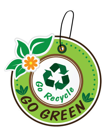 international recycle symbol: Go recycle label