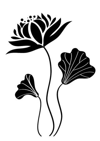 flores abstractas: Flor de loto Vectores
