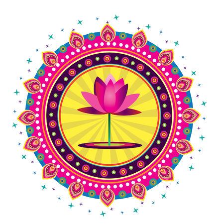 Lotus Flower Vettoriali