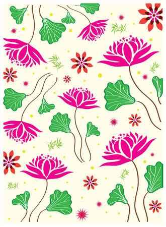 Seamless Lotus Flower Vector