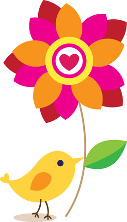 mother s day card - bird Vector