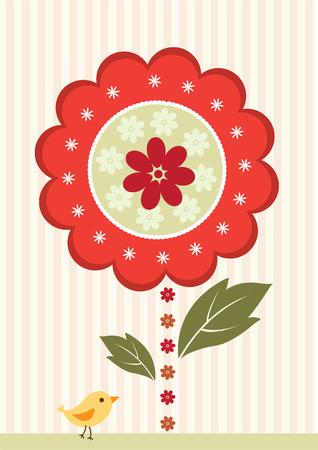 children s art: Happy mother day card