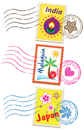 Stamp set Vettoriali