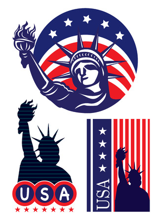 USA New York City - The Statue of Liberty Vector