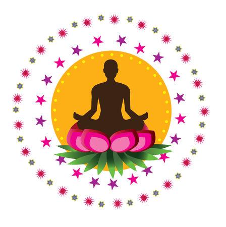 yoga icon: Yoga Lotus Pattern