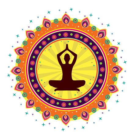 Yoga lotus posture Vector