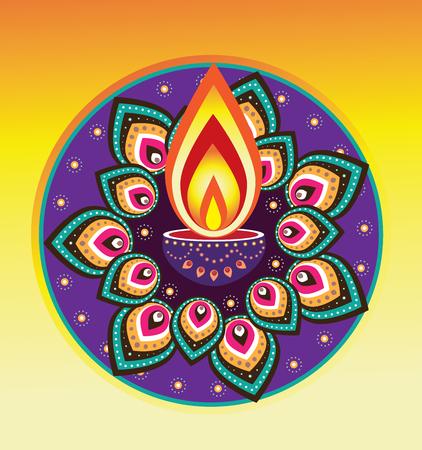 indian light: Luz de las velas Diwali, a�o nuevo elemento indio