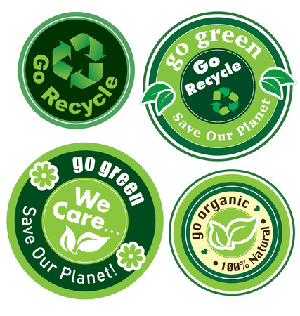 Go Recycle Go Green Go Organic Icon