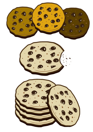 indulgência: Biscoitos biscoitos Ilustração