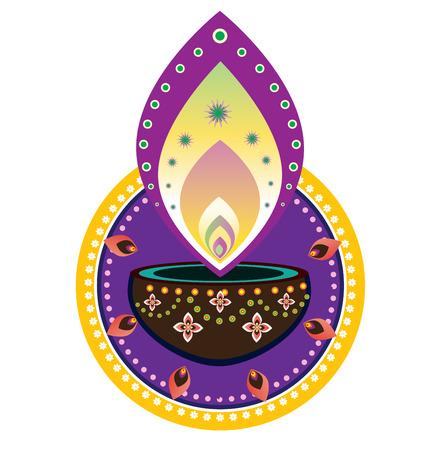 indian light: A�o nuevo indio luz de las velas Diwali element-