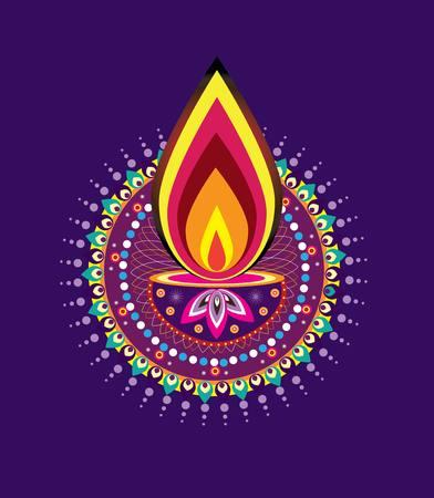 an oil lamp: Luz de la vela de Diwali
