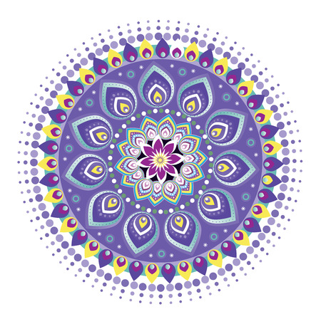 Indian Mandala Pattern Icon