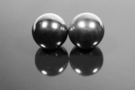 two steel balls photo