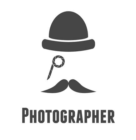 Vintage photographer logo Illustration