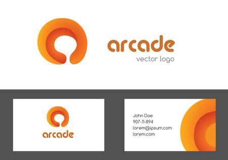 multipurpose: Letter a logotype and bussines card design. Multipurpose creative colored logo. A letter corporate logo design
