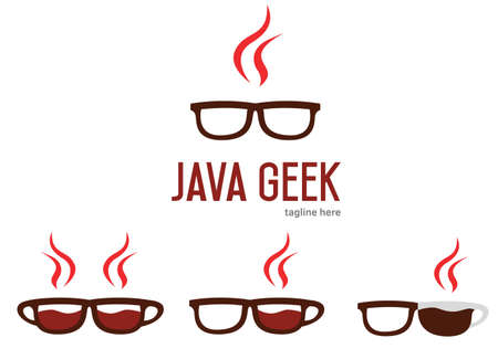 programming code: Java geek  design. Java programming language . Geek glasses .