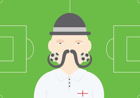 englishman: English soccer player vector illustration. England football team conceptual illustration Illustration