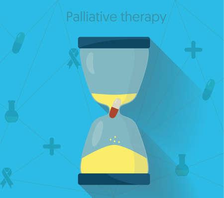 Palliative therapy conceptual illustration. Life prolonging medication and treatment vector illustration. Illusztráció