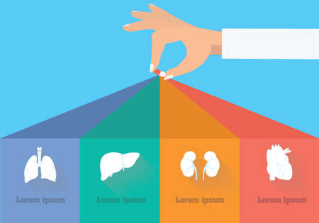 副作用のインフォ グラフィック。治療概念の目標