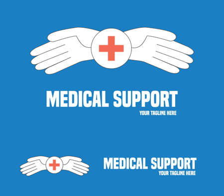 general practitioner: Medical service symbol. Medical help vector concept.