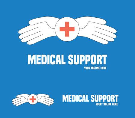 general insurance: Medical service symbol. Medical help vector concept.