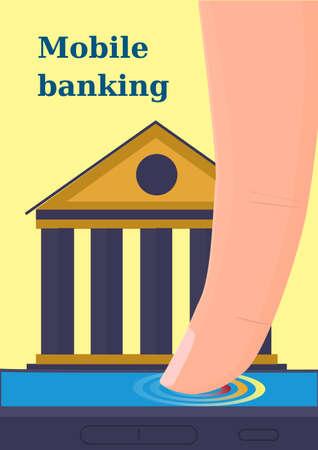 remote access: Mobile banking vector illustration. Illustration