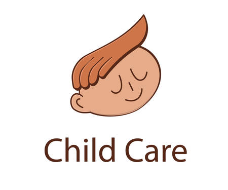 child care: Child care, child minding and preschool logo design. Baby care logotype.