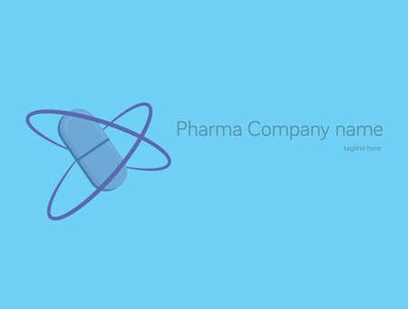 pharmacology: Pill  design. Pharmacology symbol