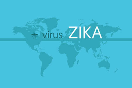 Worldwide virus zika epidemic concern illustration. Vektoros illusztráció