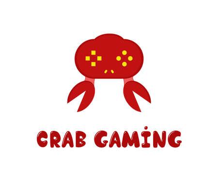 gaming: Gaming company joystick fanny . crab design.
