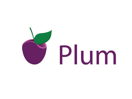 food supply: Plum design. Food supply, shop and grocery company