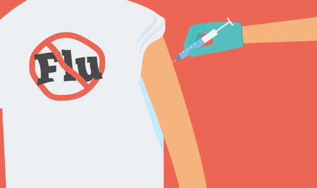 flu vaccine: Flu vaccination concept.